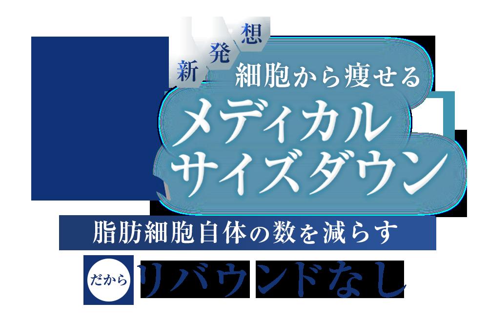 """""""細胞から痩せる""""メディカルサイズダウン"""